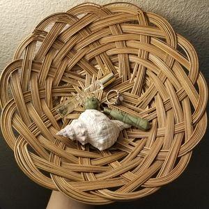 Vintage Boho Wicker Wall Art Basket Decor Catch